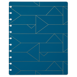 TUL® Discbound Notebook Covers, Letter Size, Blue Geo, Pack of 2 Covers