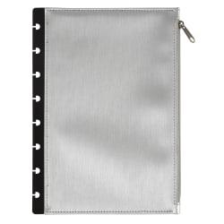 """TUL® Discbound Notebook Storage Pouch, 6-1/2"""" x 9-1/2"""", Silver"""