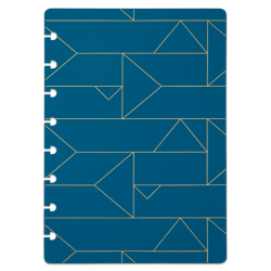 TUL® Discbound Notebook Covers, Junior Size, Blue Geo, Pack of 2 Covers