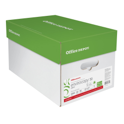 "Office Depot® EnviroCopy® Paper, Ledger Size (11"" x 17""), 20 Lb, 30% Recycled, FSC® Certified, Ream Of 500 Sheets, Case Of 5 Reams"