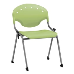 OFM Rico Stacking Chair, Without Arms, Lime Green, Set Of 6