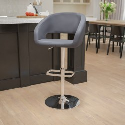 Flash Furniture Contemporary Adjustable Bar Stool, Light Gray