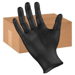Boardwalk Disposable Nitrile General-Purpose Gloves, Powder-Free, Large, Black, Box Of 1,000 Gloves