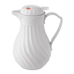 Hormel® Swirl Design Carafe, 40 Oz., White