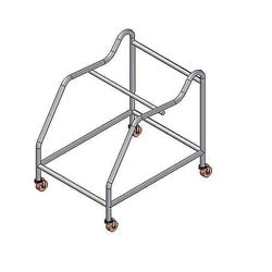 """OFM Transport Dolly For Rico Stacking Chairs, 21 1/2""""H x 23""""W x 24 1/2""""D, Silver"""