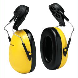 Optime 98 Earmuffs, 23 dB NRR, Yellow, Cap Attached
