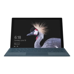 """Microsoft Surface Pro - Tablet - with detachable keyboard - Core i5 7300U / 2.6 GHz - Win 10 Pro 64-bit - 8 GB RAM - 256 GB SSD - 12.3"""" touchscreen 2736 x 1824 - HD Graphics 620- kbd: US - with Surface Pro Type Cover black"""