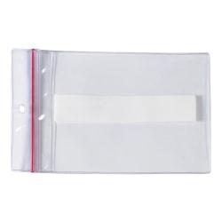 "Office Depot® Brand Super-Scan Press-On Vinyl Envelopes, Reclosable, 4"" x 6"", Clear, Pack Of 25 Envelopes"