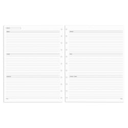 TUL® Discbound Undated Weekly/Monthly Refill Pages, Letter Size