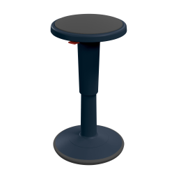 """Hierarchy Height-Adjustable Grow Stool, 24""""H, Navy"""