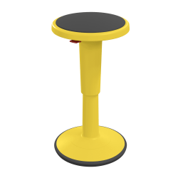 """Hierarchy Height-Adjustable Grow Stool, 24""""H, Yellow"""