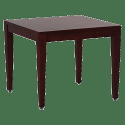 Lorell® Solid Wood Corner Table, Mahogany