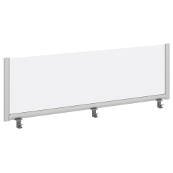 "Bush Business Furniture Desk Divider Privacy Panel, 60""W, Frosted Acrylic, Standard Delivery"