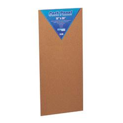 "Flipside Cork Bulletin Board, 16"" x 36"", Brown"