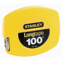Stanley® 100' Yellow Tape Measure