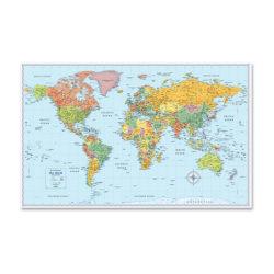 "Rand McNally World Wall Map, 32"" Width x 50"" Height"