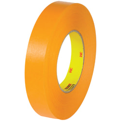 "3M™ 2525 Flat-Back Tape, 3"" Core, 0.75"" x 60 Yd., Orange, Pack Of 48"