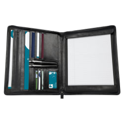Office Depot® Brand Lefty Righty Zip-Around Bi-Fold Writing Pad, Black