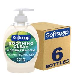 Softsoap Liquid Hand Soap Pump - Soothing Aloe Vera - Aloe Vera Scent - 7.5 fl oz (221.8 mL) - Pump Bottle Dispenser - Dirt Remover - Hand - Pearl - 6 / Carton