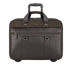 "Solo MacDougal 17.3"" Laptop Rolling Case, Brown/Olive"