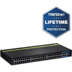 TRENDnet 48-Port 10/100Mbps Web Smart Switch - 2 x SFP (mini-GBIC) - 48 x 10/100Base-TX, 4 x 10/100/1000Base-T