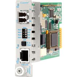 iConverter T1/E1 Fiber Media Converter RJ48 LC Single-mode 30km Module - 1 x T1/E1; 1 x LC Single-mode; Internal Module; Lifetime Warranty