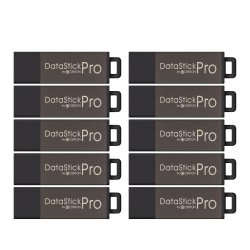 Centon DataStick Pro USB 2.0 Flash Drive, Gray, 2GB, Pack of 10