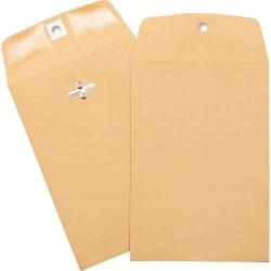 "Business Source Heavy-duty Clasp Envelopes - Clasp - #35 - 5"" Width x 7 1/2"" Length - 28 lb - Clasp - Kraft - 100 / Box - Brown Kraft"