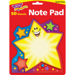 "Trend® Super Star Shaped Notepad, 5"" x 5"", 50 Sheets"
