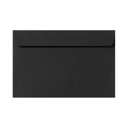 """LUX Booklet Envelopes With Moisture Closure, 6"""" x 9"""", Midnight Black, Pack Of 50"""