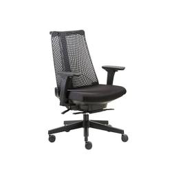 Boss Contemporary Mesh High-Back Chair, Poly/Fabric, Black, B6550-BK