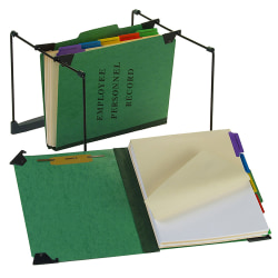 "Pendaflex® Hanging Style Personnel Folder, 9 1/2"" x 11 3/4"", 2"" Expansion, 65% Recycled, Green"