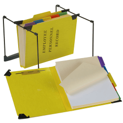 "Pendaflex® Hanging Style Personnel Folder, 9 1/2"" x 11 3/4"", 2"" Expansion, 65% Recycled, Yellow"