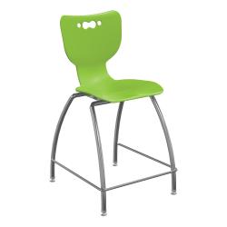 "Hierarchy 4-Leg School Stool, 30"", Green/Chrome"