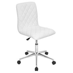 LumiSource Caviar Bar Stool, White