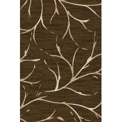 Flagship Carpets Printed Rug, Moreland, 4'H x 6'W, Dark Chocolate