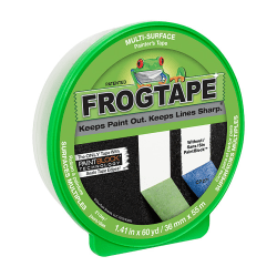 "Duck® FrogTape Multi-Surface Painting Tape, 1-7/16"" x 2160"", Green"