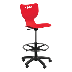 "Hierarchy 5-Star School Stool, 33""H, Red/Black"