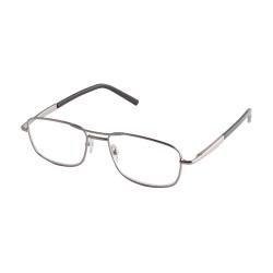 ICU Eyewear DDE Men's Reader Glasses, Silver, +1.25
