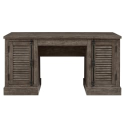 Ameriwood™ Home Sienna Park Double-Pedestal Desk, Weathered Oak