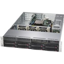 Supermicro SuperServer 5028R-WR Barebone System - 2U Rack-mountable - Intel C612 Express Chipset - Socket LGA 2011-v3 - 1 x Processor Support - Black - 512 GB DDR4 SDRAM DDR4-2133/PC4-17000 Maximum RAM Support - Serial ATA/600 RAID Supported Controller