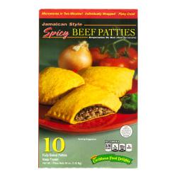 Caribbean Food Delights Jamaican-Style Spicy Beef Empanadas, Box Of 10 Empanadas