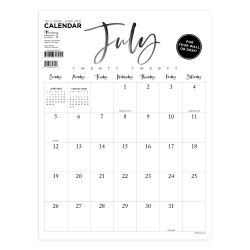 "TF Publishing Mini Art Poster Academic Monthly Wall Calendar, 12"" x 9"", Handwritten, July 2020 To June 2021"
