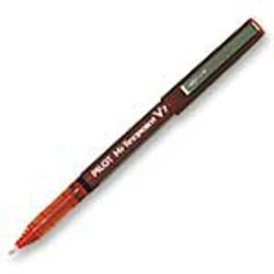 Pilot® Precise™ V7 Liquid Ink Rollerball Pen, Fine Point, 0.7 mm, Red Barrel, Red Ink