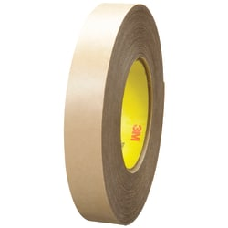 "3M™ 9485PC Adhesive Transfer Tape Hand Rolls, 3"" Core, 1"" x 60 Yd., Clear, Case Of 36"