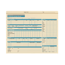 """ComplyRight Personnel Pocket Files, 11 3/4"""" x 9 1/2"""", Pack Of 25"""