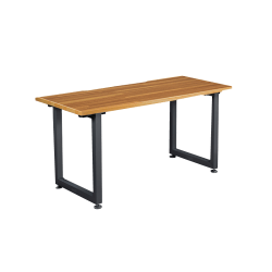 "VARIDESK QuickPro Desk, 60"" x 30"", Butcher Block/Slate"