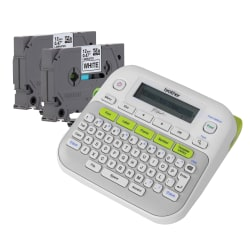 Brother® P-Touch D210 Label Maker With Tape