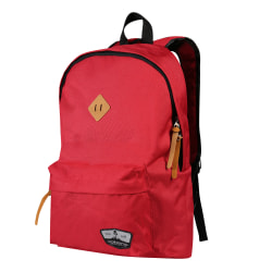 "Volkano Scholar Backpack With 15.6"" Laptop Pocket, Red"
