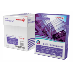 """Xerox® Bold Professional™ Quality Paper, Letter Size (8 1/2"""" x 11""""), 98 (U.S.) Brightness, 24 Lb, FSC® Certified, Ream Of 500 sheets, Case of 5 reams"""